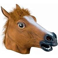 OM(TM) Halloween Creepy Brown Horse Head Masks - Fancy Dress