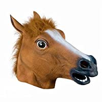 OM(TM) Halloween Creepy Brown Horse Head Masks - Fancy Dress