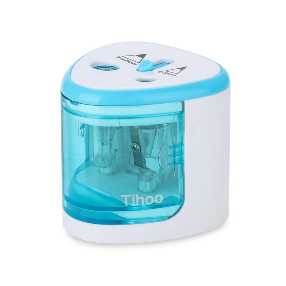 Electric Pencil Sharpener Innovative Automatic Smart Double Hole Primary School Stationery Pencil Sharpener Office Pencil Pencil Sharpeners