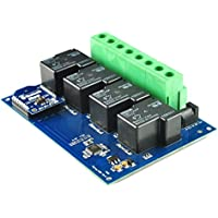 4 Channel Bluetooth Smartphone Controlled 30A Relay Board with Enclosure