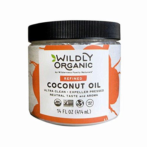 Price comparison product image Wildly Organic Coconut Oil Refined (No Coconut Flavor or Scent,  Expeller Pressed),  Non-GMO,  - 14 FL OZ