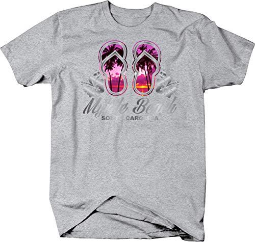 - Myrtle Beach South Carolina Flip Flops Purple Sunset T shirt for men - 2XL