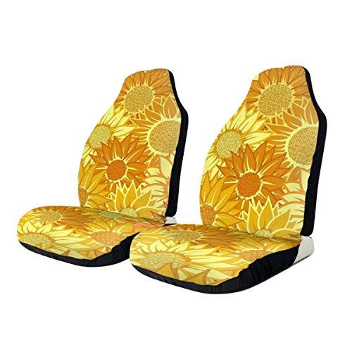 Car Seat Covers Sunflower Elastic Full Set Car Seat Protectors Universal Car Seat Accessories,2 PCS