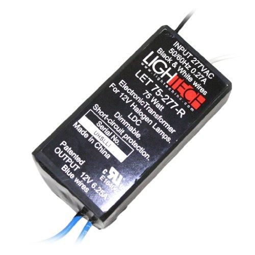 LighTech 75277 - 75 watt 277 volt Electronic Transformer (LET 75-277-R)