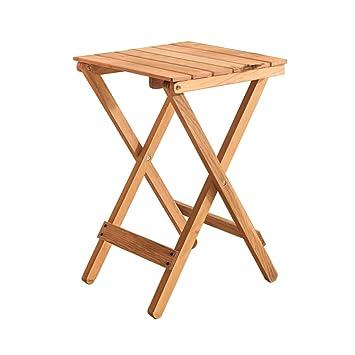 Amazon.com: xiaoyuhy Mesa de madera plegable, apta para ...