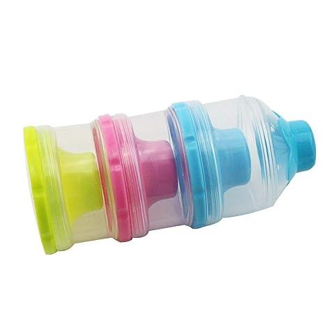 Contenedor de polvo de leche 3 capas Dispensador de leche en polvo para bebé Contenedor de