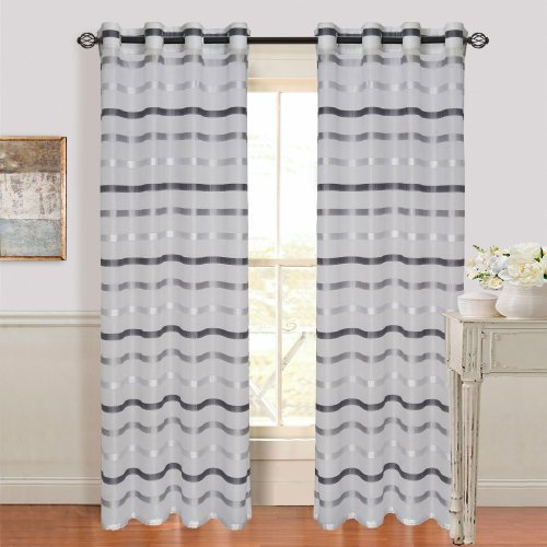 bedford-home-arla-grommet-single-curtain-panel-108-inch-lite-dark-grey