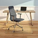 "Rectangle Glass Chair Mats 36"" x 48"" / Chiaro"