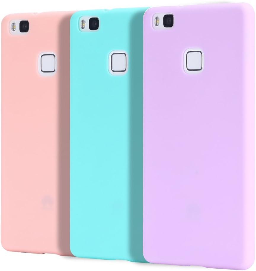 Caselover 3X Funda Huawei P9 Lite, Suave TPU Silicona Carcasa para Huawei P9 Lite Ultra Delgado Flexible Case Cover Bumper Goma Mate Opaco Anti Rasguños Protectiva Case: Amazon.es: Electrónica