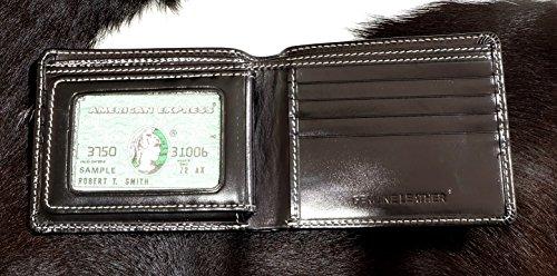 Genuina Doble Xl Soporte Clásico 5 Tarjeta Negro Cuero Pequeña De Billetera 3 W El La Con Pliegue De 5 De 4 trUrvfWq