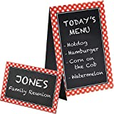 """Amscan Picnic Party Chalkboard Tent Cards, 4"""" x 6"""", 8 Ct."""