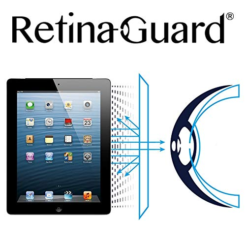 RetinaGuard Anti UV, Anti Blue Light Screen Protector for iPad 4, New iPad, iPad 2, SGS and Intertek Tested, Blocks Excessive Harmful Blue Light, Reduce Eye Fatigue and Eye Strain
