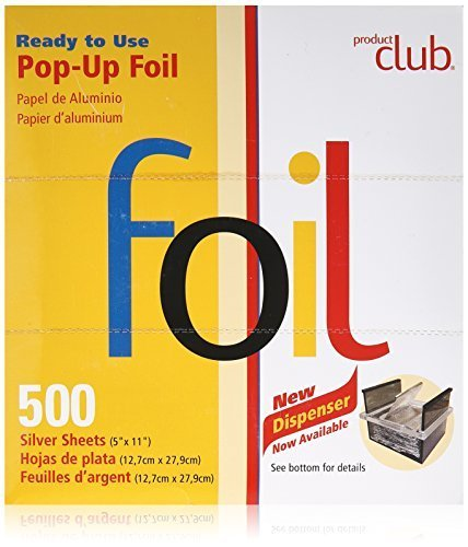 Set Count Sheet 500 - Product Club Product Club Ready to Use Foil Sheets, Silver, 5 x 11 Inch, 500 Count
