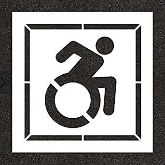 ny dot accessible icon handicap stencil with border 24 56