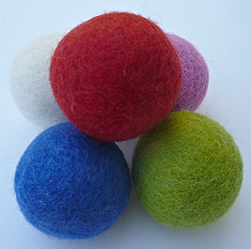 Earthtone Solutions Wool Felt Ball Toys for Cats and Kittens, Fun Adorable Colorful Soft Quiet Felted Fabric Balls, Unique Handmade Natural, Perfect for Cat Lover, Craft Supplies 3