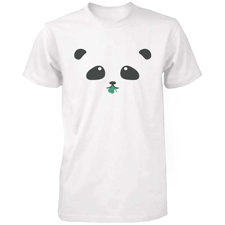 Panda Eating Four Leaf Clover Men/'s Shirt St Patrick/'s Day T-shirt