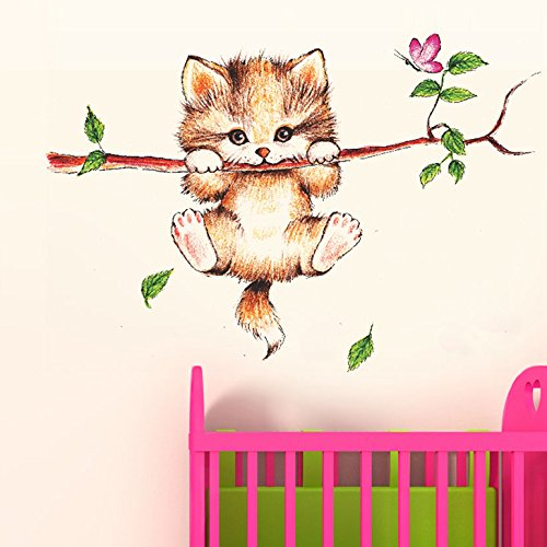 Decals Design 'Little Catty on Branch' Wall Sticke