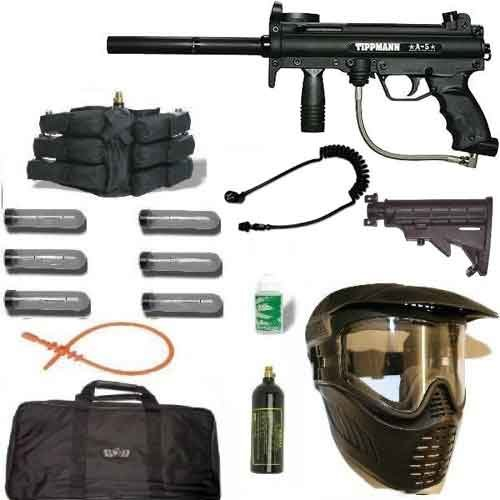 Tippmann A5 Sniper Paintball Gun Kit