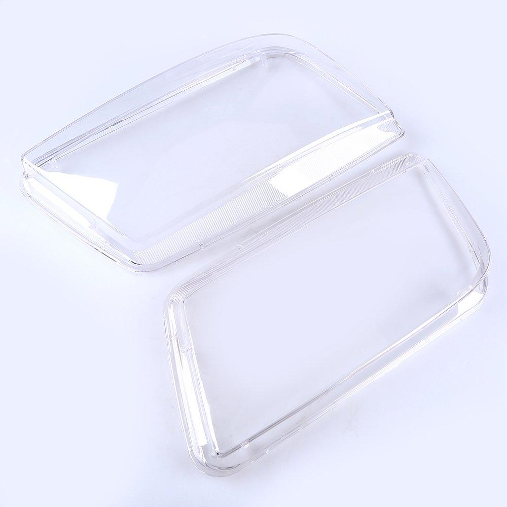 Scheinwerfer Abdeckung Frontscheinwerfer Streuscheibe Transparent Gl/äser Fahrerseite/&Beifahrerseite 2pcs