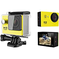 A9 HD 1080P MJPEG 2 inch LCD IP68 30m Waterproof Sports Action Camera DVR (Yellow)
