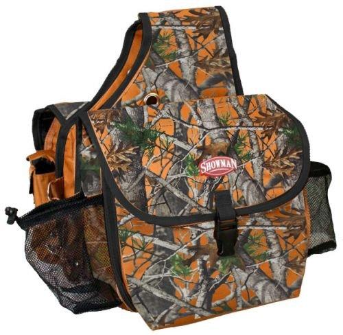 Showman Real Oak Camouflage Insulated Cordura Nylon Saddle Bag (Orange)