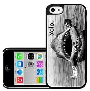 YOLO Shark Bite Hard Snap On Case (iPhone 5c)