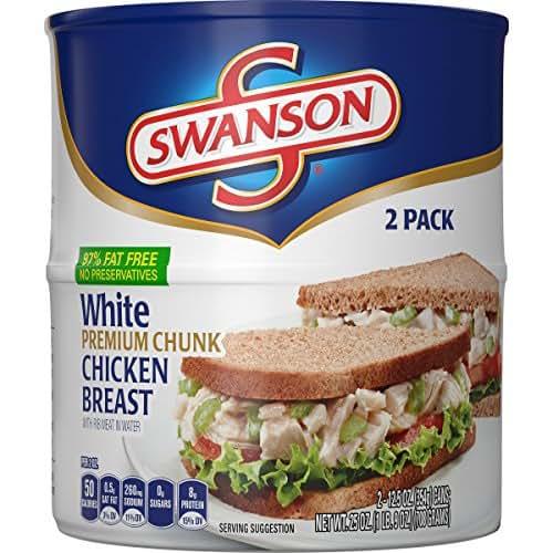 Swanson White Premium Chunk Chicken Breast, 2 Count