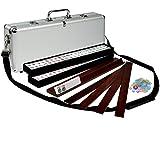 """American Mahjong (Mah Jongg, Mahjongg),166 Tiles All-in-One Racks   Pushers Set, The """"Elemental"""" with Aluminum Case"""