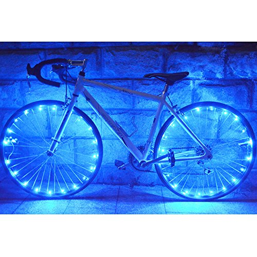 LEDHOLYT 1pcs Battery Powered LED Bike Wheel Light Bicycle Cycling Spoke Rim Tire Tyre String Light