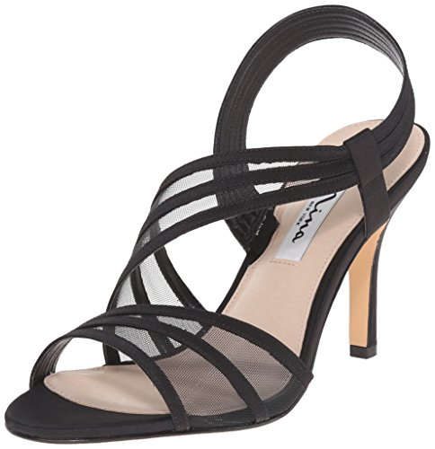 NINA Women's Vitalia Dress Sandal, Ls- Black, 6 M US