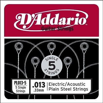 DAddario PL013-5 - Juego de cuerdas para guitarra acústica de ...