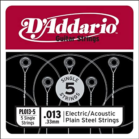 Corda singola PL011-5 in acciaio per chitarra.011 set di 5 corde