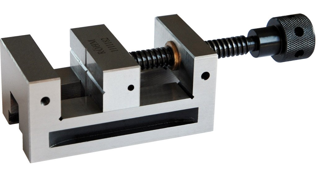 Röhm 1111182 Type 735-50 PL-G Alloy Tool Steel Precision Toolmakers Vise, 60mm Jaw Width, 110mm Length, Size 0