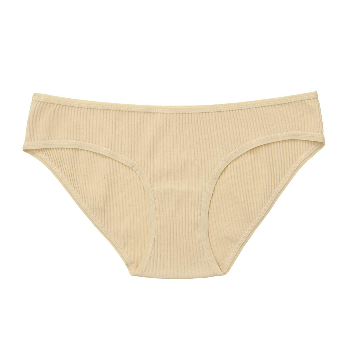 42f32d1940c Knitlord Women's Thick Cotton Stretch Bikini Panties Comfort Rib Underwear  6 Pack at Amazon Women's Clothing store: