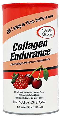 Great Lakes Collagen Hydrolysate Endurance, Complete Protein Energy and Performance Enhancer, Grass-Fed Non-Gmo Gluten Free, Strawberry Black Cherry Flavor, 16 oz. FFP