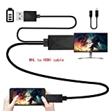 micro usb hdmi connector - Kinpasy Micro USB MHL to HDMI Adapter 1080P Media HDTV Converter 6.5ft Cable 11 Pin & 5 Pin Universal for Samsung Galaxy S2 S3 S4 S5 Note 2 3 4 8 Note Edge HTC M8 HTC One Sony Android Cell Phone