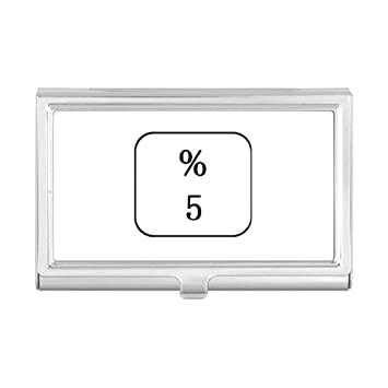 Amazon com : Keyboard Symbol 5 Business Card Holder Case