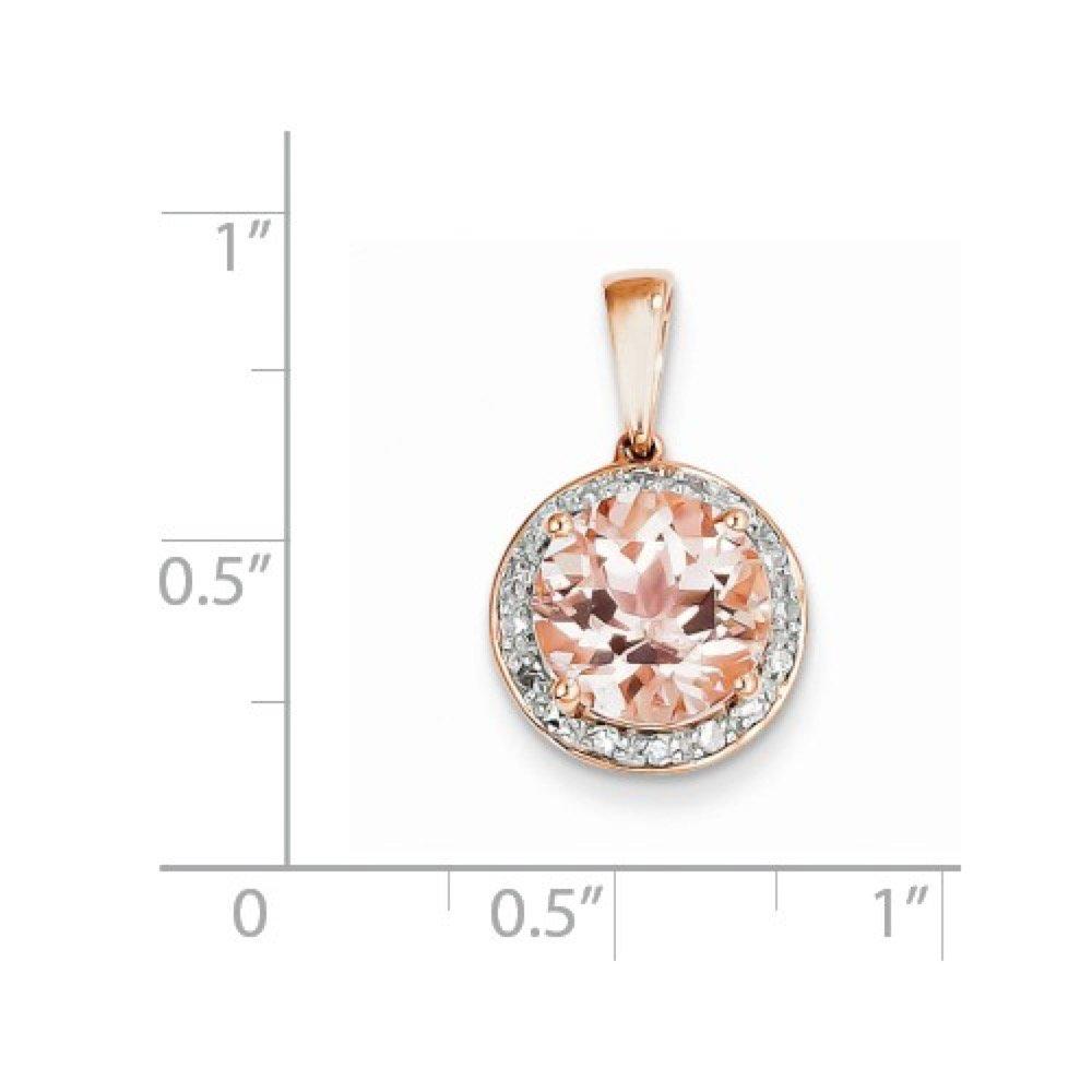 Roxx Fine Jewelry™ Diamond and Morganite Halo Necklace 2.83 Ct. TCW XP4182MG/AA by Roxx Fine Jewelry (Image #3)