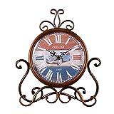 JUSTUP Vintage Table Clock, Iron European Style