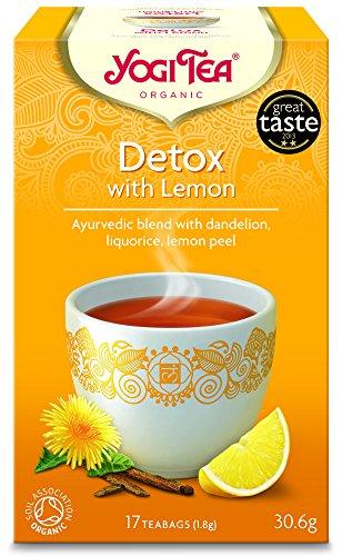 Yogi Tea Detox With Lemon 17 Teabags (Pack of 6, Total 102 Teabags)