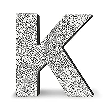 colorjoy dci alphabet letter block letter k wall letters adult coloring products