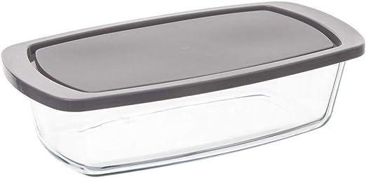 Bandeja para tartas de cristal con tapa, 27 x 14 cm: Amazon.es: Hogar