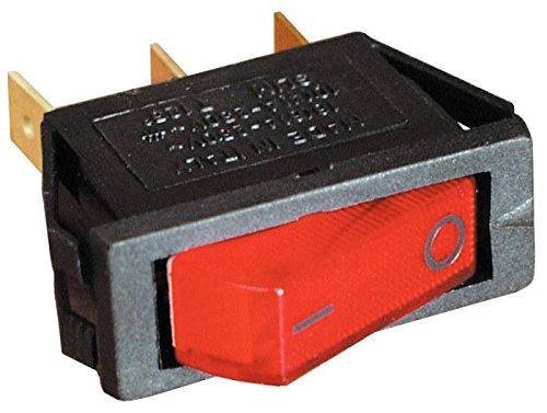 Interruptor luminoso rojo 12 V para nevera trivalente Camper CBE ...