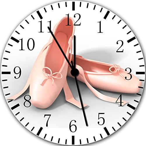(Ballet Shoes Frameless Borderless Wall Clock Y121 Nice for Gift or Room Wall Decor)