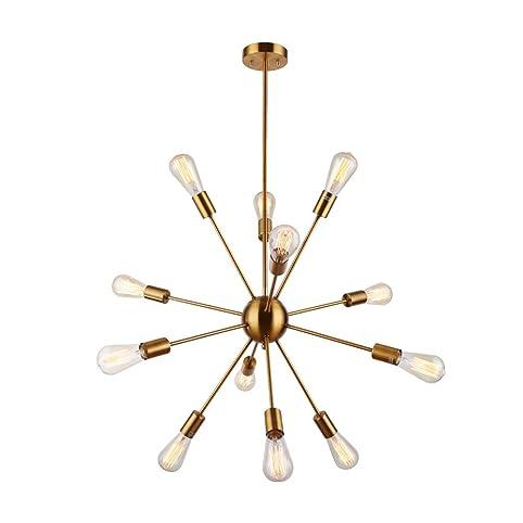 Sputnik Chandelier - Housen Solutions 12 Lights Pendant Lighting ...