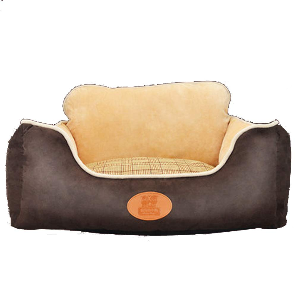 Pet Dog Bed Deluxe Memory Foam Recliner Shaped Sofa pet Bed Dog and cat,Brown,L
