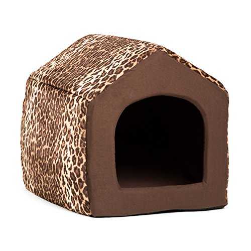 Best Friends by Sheri 2-in-1 Pet House-Sofa in Zoo, Leopard Brown, Large, 19