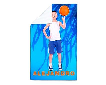 Toalla deportiva personalizada con tus fotos. Medida 75 X 157 cm.