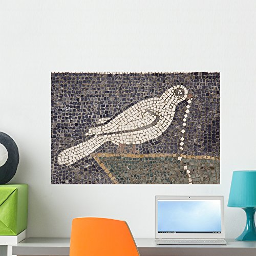 Dove Tile Mosaic Wall Mural by Wallmonkeys Peel and Stick Graphics (24 in W x 16 in H) WM317947 -