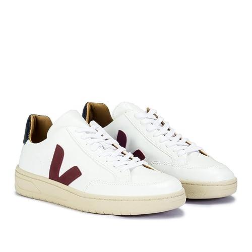 VEJA - XBM021460 - Sneaker DA UOMO Modello V-12 Bastille Leather Extra White Marsala Nautico: Amazon.es: Zapatos y complementos
